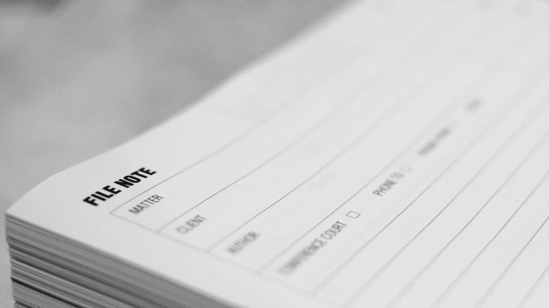 File Note Printing